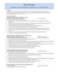 resume for firefighter paramedic firefighter resume 2014