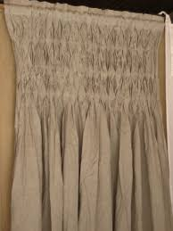 Smocked Burlap Curtain Panels by Modest Decoration Smocked Curtains Sensational Design Pom At Home