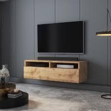 selsey rednaw tv schrank modernes tv board für wohnzimmer stehend hängend 100 cm breit wotan eiche matt ohne led
