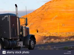 100 Semi Truck Exhaust Dark Classic Big Rig Semi Truck With Long Exhaust Pipes Passes By