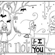 Halloween Coloring Pages Do Not Fear Bible Verse
