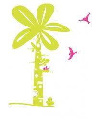 toise chambre bébé stickers toise palmier chambre bébé
