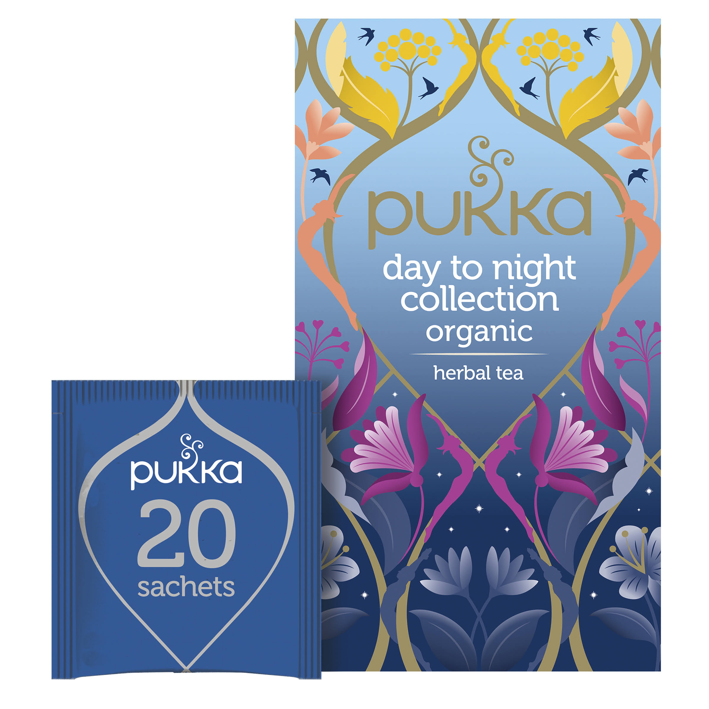 Pukka Day to Night Collection Herbal Tea - 32.4g, 20 Tea Bags