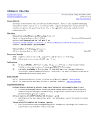 Objective In Resume For Software Engineer Fresher Physic