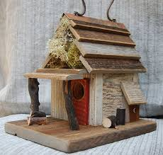 Image Of Rustic Birdhouses With Porch