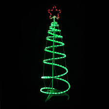 Spiral Pre Lit Christmas Trees by Green Spiral Tree Star Led Light 120cm Christmas Decoration