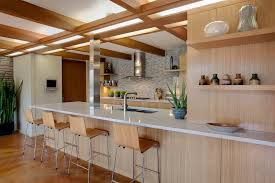 Kitchen Example Of A 1960s Design In Milwaukee With Double Bowl Sink Flat