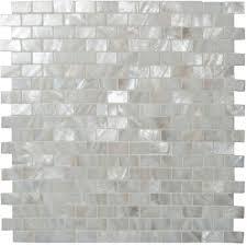 pearl brickbond shell mosaic tile