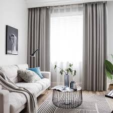 moderner vorhang uni aus polyester und leinen für