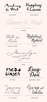Free Or Inexpensive Wedding Font Ideas