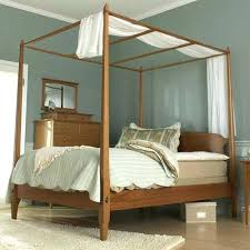 Bed Frames With Posts Wooden Bed With Half Posts Bed Frame Support