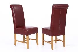 Titan Claret Red Leather Dining Chair