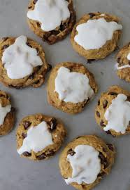 Libbys Pumpkin Cookies With Chocolate Chips by Pumpkin Chocolate Chip Cookies With Lemon Icing A Bountiful Kitchen