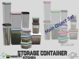 The Sims Resource Kitchen Storage Containers By BuffSumm O 4 Downloads