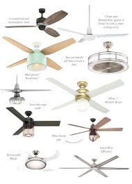 Retractable Blade Ceiling Fan by Stylish Ceiling Fans Under 350 Shining On Design