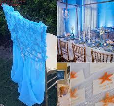 2017 2015 ice blue chair sashes romantic 3d floral appliques