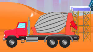 Cement Truck Video – Kids YouTube