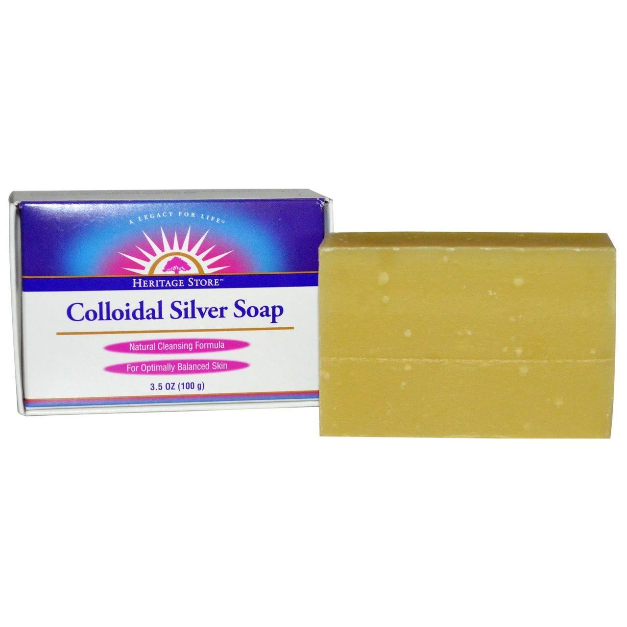 Heritage Store Bar Soap, Colloidal Silver - 3.5 oz