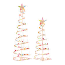Meijer Christmas Tree Decorations by Holiday Time 3 U0027 And 4 U0027 Lighted Spiral Christmas Tree Sculptures