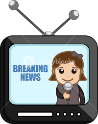 News Reporter Over Tv
