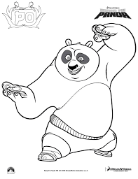 Beautiful Kung Fu Panda Coloring Pages 75 With Additional Print
