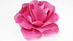 Paper Flowers Rose Diy Tutorial Easy For Children Origami Flower Folding 3d Kidsfor Beginners