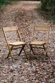 Vintage Oak Folding Chairs