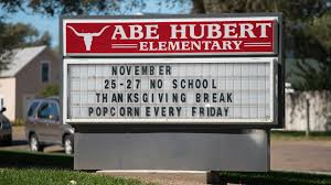 Abe Hubert Elementary School in Garden City KS Luminous Neon