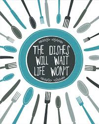 Kitchen Art Print Wall Decor Digital BLUE Typography Quote Illustration For Clock Ideas