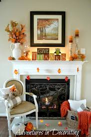 adventures in decorating our simple fall mantel halloween