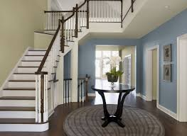 charming entryway wall color ideas of light turquoise wall paint