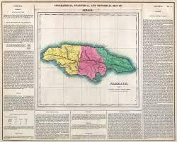 1855 Map Of West Indies Jamaica 1882 1892 1901 1906