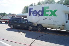 100 Fedex Truck Accident One Injured In Poland Crash Lewiston Sun Journal