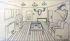 One Point Perspective Room Interiors Middle School Art Lesson