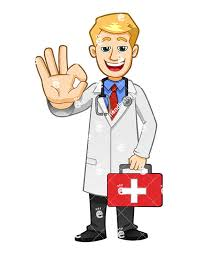 A Health Professional Holding First Aid Kit And Making The Ok Gesture With