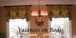 Valances on Rods Traditional Living Room Other by The