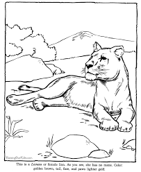 Lioness Coloring Page To Print