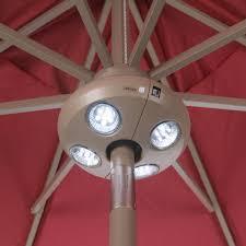 Solar Powered Patio Umbrella Led Lights by Treasure Garden Vega Led Umbrella Light Hayneedle