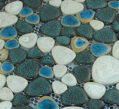 glazed porcelain tile glass pebble mosaic tile ppmt046 pebble