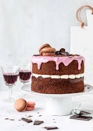 rotwein schokoladentorte mit ricotta