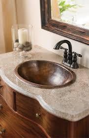 Menards Barrett Pedestal Sink by Sinkology Aged Copper Oval Handmade Pure Copper Dual Mount Sink At