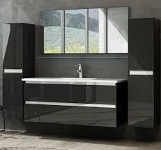 homeline badmöbel set marcel komplettes badmöbel set 6 tlg badmöbel schwarz hochglanz 6 teilig badezimmermöbel 1x spiegel 1xspiegel ablage 1x