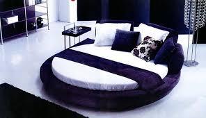 Round Modern Bed] Modern White Round Bed Opus Modern Round Bed In