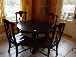 ARIS PEDESTAL TABLE FROM POTTERY BARN BLACK WOODEN PEDESTAL ROUND TABLE 45