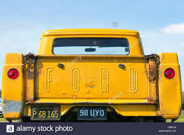 100 1957 Ford Truck Pick Up Truck Tailgate Stock Photo 124162584 Alamy