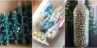 Christmas Tree Bead Garland Uk by Christmas Decoration Storage Ideas How To Store Fake Christmas