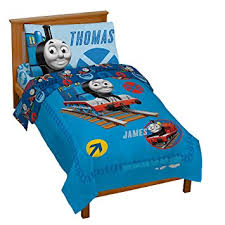 amazon com thomas the tank engine 4 piece toddler bed set baby