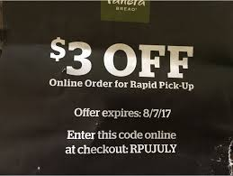 Panera Bread Coupon For Online Orders At Participating ...