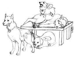 Siberian Husky Coloring Pages Puppy Many Interesting