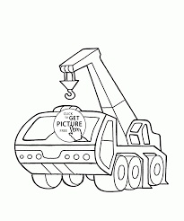 Crane Truck Coloring Page For Kids, Transportation Coloring Pages ...